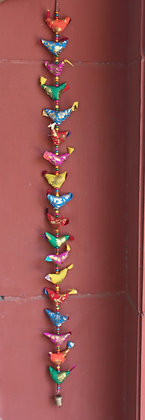 Printed Cloth 18 Birds Hanging  PRODUCT CODE - 0169