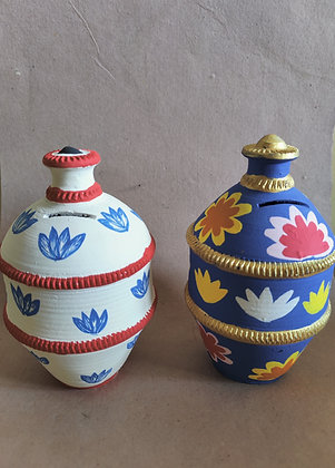 Terracotta Piggy Bank Painted PRODUCT CODE - 0335