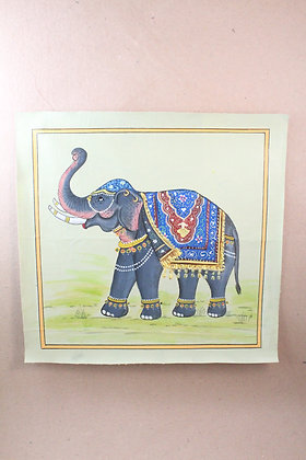 Wall Canvas Elephant Hand Painted PRODUCT CODE -317