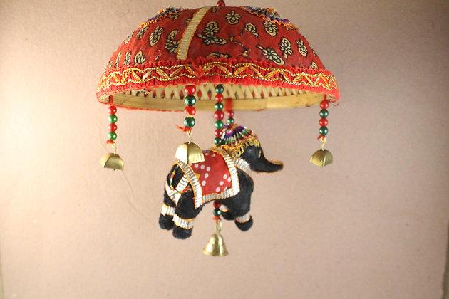 Cloth Printed Elephant w/ Umbrella PRODUCT CODE - 0136