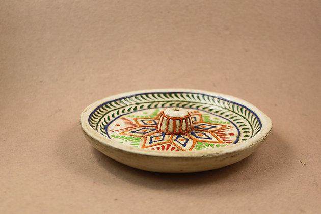 Paper Mache Incense Cone Tray ( Antique Finish )  PRODUCT CODE - 0251