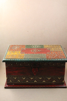 Wooden Storage Box Antique Finish  Rectangle  PRODUCT CODE -0179