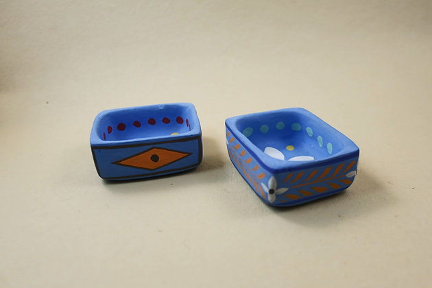 Paper Mache Pin Tray Painted  PRODUCT CODE - 0254