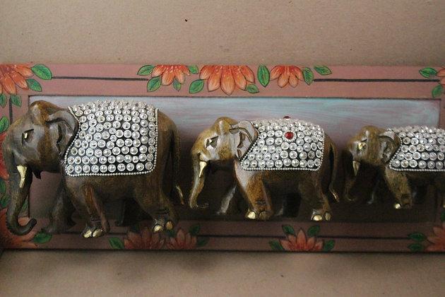 Wooden Elephant Figure Work Wall Art PRODUCT CODE - 0268