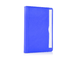 Blue iPad Air 2 Premium Leather Tan Case