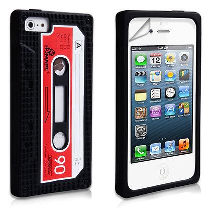 Black iPhone 5/5s Retro Cassette Rubber Case