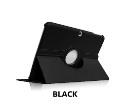 Black Galaxy Tab 4 10.1 360 Rotating Case