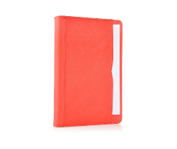 Red iPad Air 2 Premium Leather Tan Case