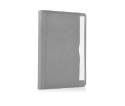 Grey iPad Air 2 Premium Leather Tan Case