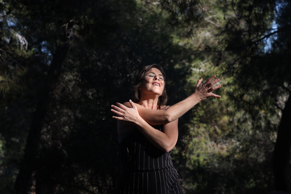 'The Cave' by Yael Vazana-Haramati, performed in the Valley of the Cross, 2020