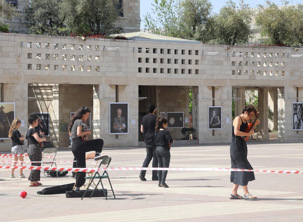 Hanging Garden by Tom Klein, performed at Safra Square, Jerusalem, May 2021