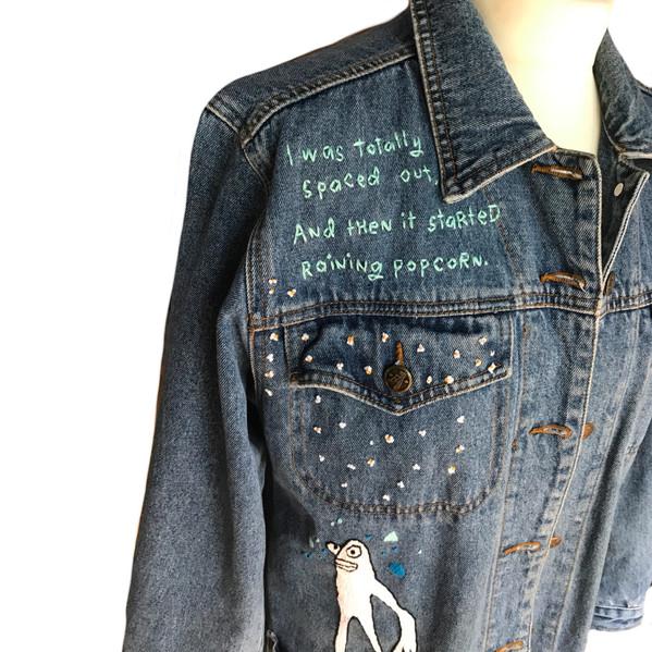 Pop Corn Rain Denim Jacket
