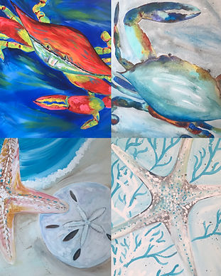 Crabs and Starfish Pescado Y Amor
