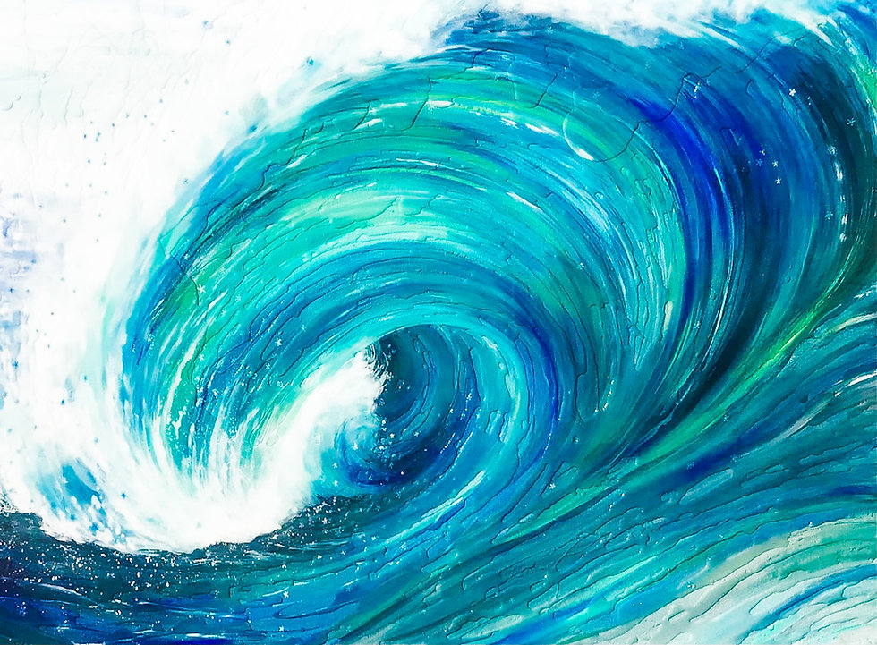 Finding Hope Fine Art Painting By Surf Artist Missy Tripp Ronquillo