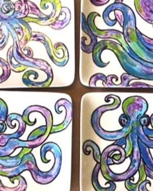 Octopus Appetizer Plates