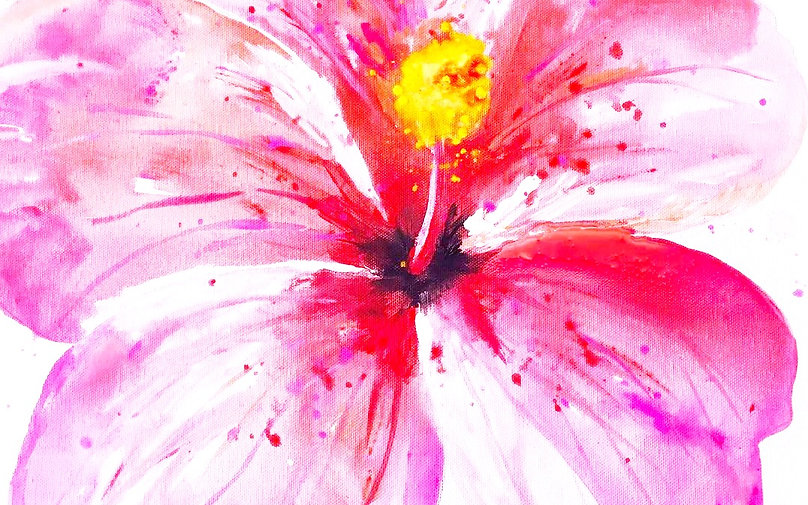 Beautiful Hibiscus Flower Painting By: Missy Tripp Ronquillo