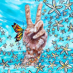 Show Me Your Peace Sign Surf Artist Miss
