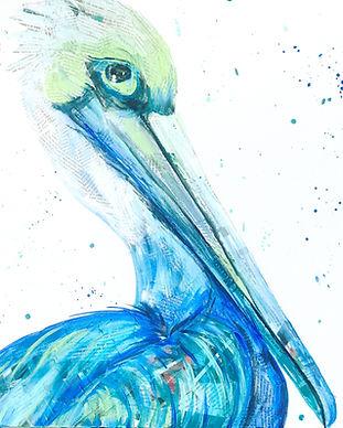 Mixed Media Pelican