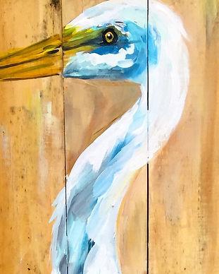 Heron On Wood Pescado Y Amor
