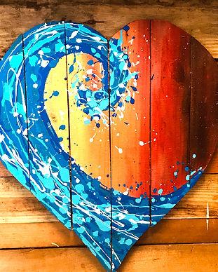 Heart Wave Pescado Y Amor