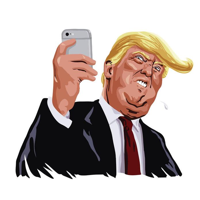 caricatura-de-Donal-Trump-y-su-uso-de-la