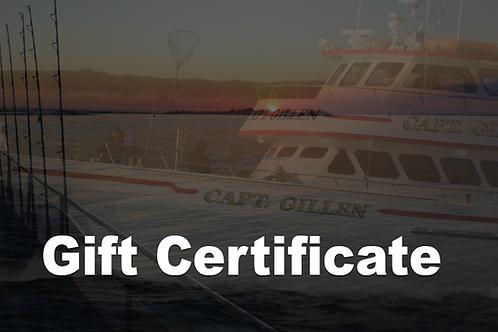 Capt. Gillen Gift Certificate $75