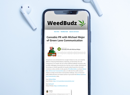 Cannabiz PR with Michael Mejer of Green Lane Communication