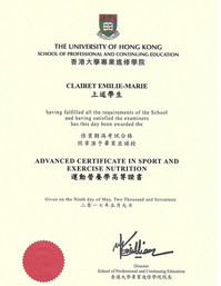 Sport and Nutrition diploma