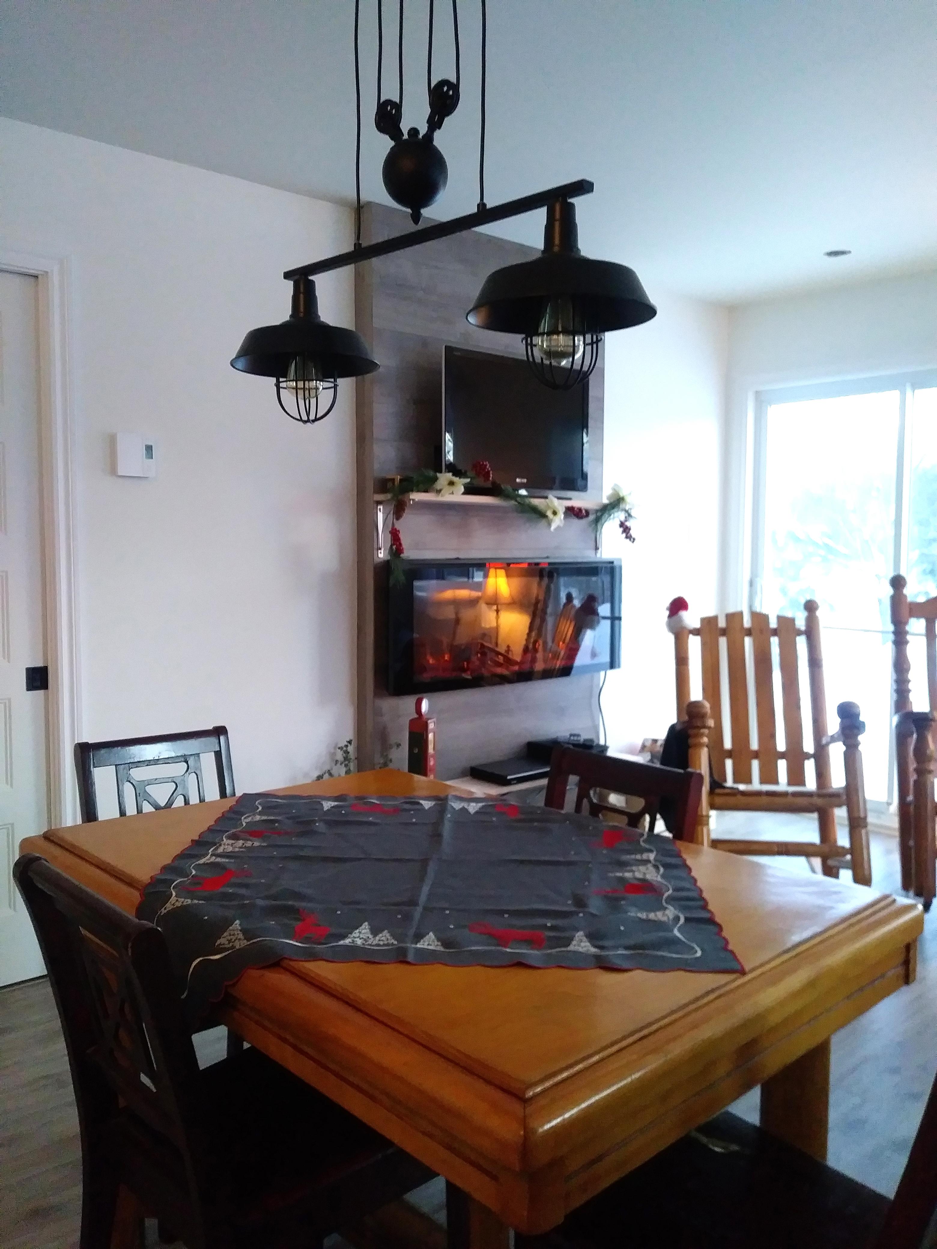 Salon Et Cuisine Aire Ouverte aire commune du chalet du marais | chaletalouer