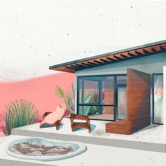 Zillow House Digital Illustration