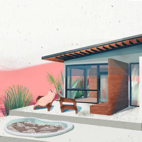 Zillow House Digital Illustration