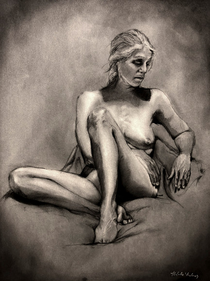 Female Drawing From Life