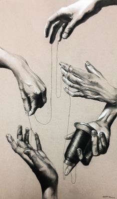Self Portrait of Hands