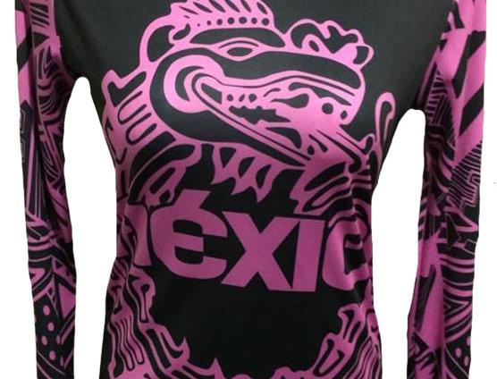 MÉXICO fluo pink  manga larga