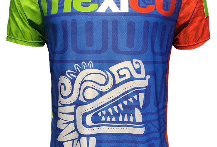 Playera - México Grecas Azul