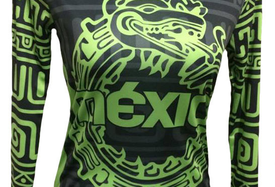 Playera - México  Manga larga fluo green