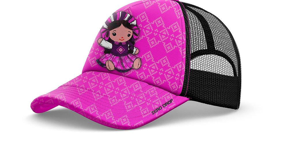 Trucker muñeca rosa/negro