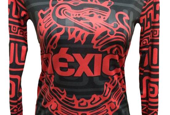 Playera - México  Manga larga roja