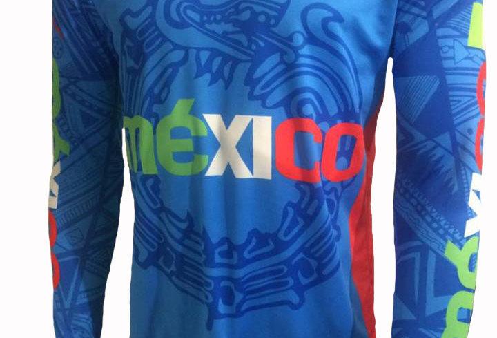 Playera - México Matlalli Azul Manga Larga