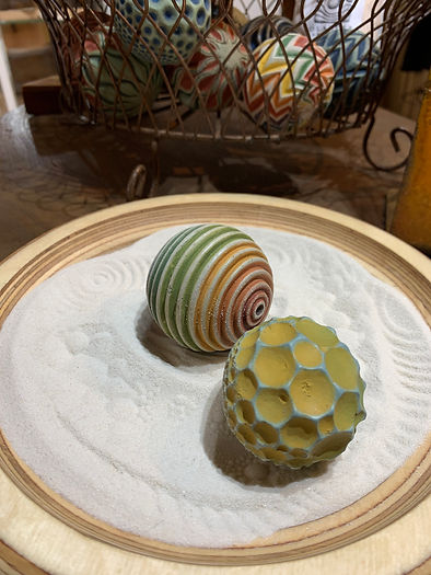 Cement Sand Spheres & Tray