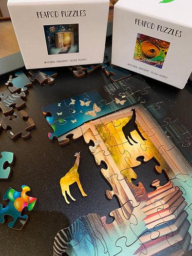 PeaPod Wooden Puzzle