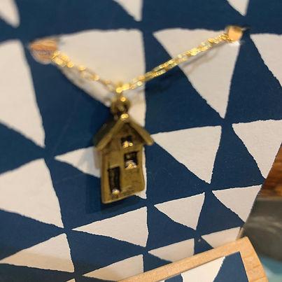 Brass House Pendant