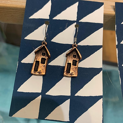 Brass House Earrings