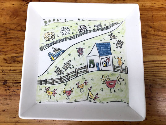 Story Plate, Square