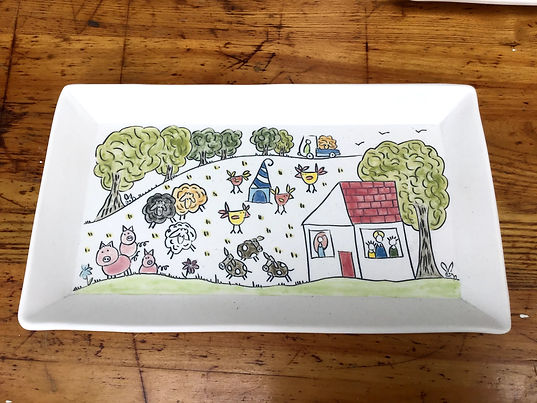 Story Plate, Rectangle
