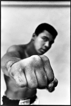 Muhammad Ali showing off his right fist, 1966