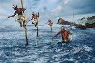 Fishermen at Welligama, 2014