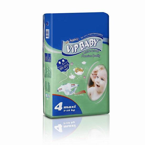 Подгузники Vip baby 4 maxi 7-18кг. 66штук в упаковке