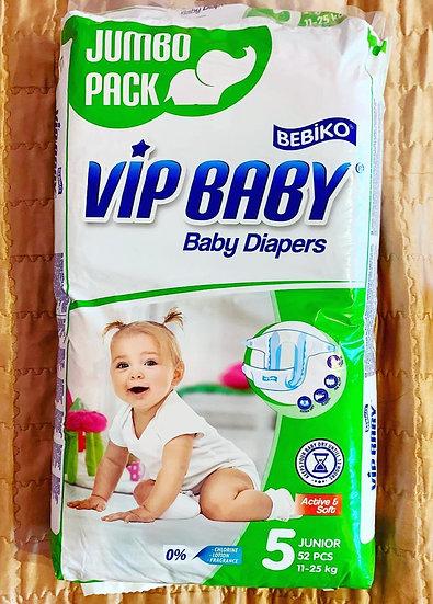 Подгузники Vip baby 5 Junior 11-25кг. 52шт в упаковке