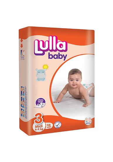 Подгузники Lulla Baby размер Midi (4-9 кг) 68 шт